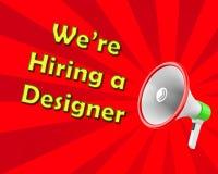 We're hiring a designer. Magaphone 3d rendering Stock Image