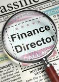 We`re Hiring Finance Director. 3D. Royalty Free Stock Photos