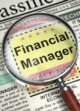 We`re Hiring Financial Manager. 3D. Royalty Free Stock Photo