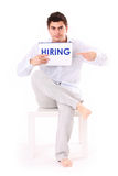 We're hiring now! Stock Photo