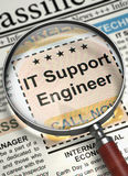 We`re Hiring IT Support Engineer. 3D. Royalty Free Stock Photos