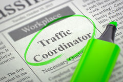 We're Hiring Traffic Coordinator. 3D. Royalty Free Stock Photo