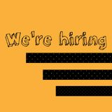 We`re Hiring Typography with Hi Standing Out Concept Design royalty free illustration