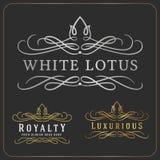 Re-important calibre royal luxueux de conception de Logo Vector Images stock