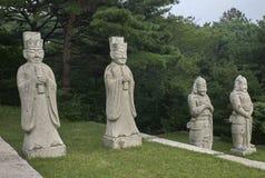 Re Kong Min Tomb, Kaesong, Corea del Nord Immagine Stock Libera da Diritti