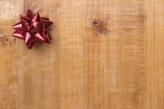 Re lint op lege houten lijst Stock Afbeelding