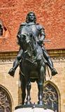 Re Matthias Corvin Statue Fotografia Stock Libera da Diritti