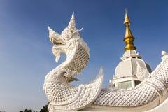Re Nagas del tempio della Tailandia Fotografia Stock