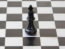 Re nero di scacchi Fotografia Stock