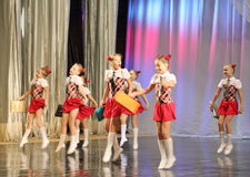 Childrens emotional dance Stock Photo