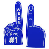 We're number 1 foam hand Royalty Free Stock Photos