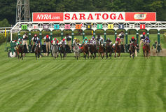 And They're Off Down the Turf Course! Stock Image