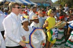 Re olandese e regina al Bonaire Fotografia Stock Libera da Diritti