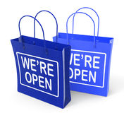 We're Open Bags Show Grand Opening or Launch Stock Images