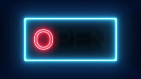 We`re Open Neon Sign Background Seamless Looping