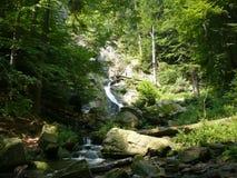 Rešov Falls in The Czech Republic. Cascade on The Huntava river on Rešov Town in The Czech Republic Stock Image