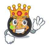 Re picchietta tailandese sul piatto della mascotte royalty illustrazione gratis