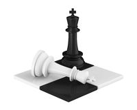 Re Pieces Checkmate di scacchi Immagini Stock Libere da Diritti