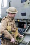Re-promulgação da segunda guerra mundial Blyth, Northumberland, Inglaterra 16 05 2013 Foto de Stock Royalty Free