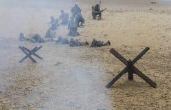 Re-promulgação da segunda guerra mundial Blyth, Northumberland, Inglaterra 16 05 2013 Imagens de Stock