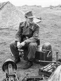 Re-promulgação da segunda guerra mundial Blyth, Northumberland, Inglaterra 16 05 2013 Imagem de Stock
