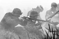 Re-promulgação da segunda guerra mundial Blyth, Northumberland, Inglaterra 16 05 2013 Foto de Stock