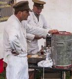 Re-promulgação da segunda guerra mundial Blyth, Northumberland, Inglaterra 16 05 2013 Fotografia de Stock Royalty Free