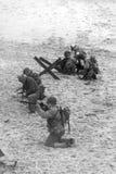 Re-promulgação da segunda guerra mundial Blyth, Northumberland, Inglaterra 16 05 2013 Fotos de Stock Royalty Free
