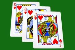 Re, regina e Jack dei cuori Fotografia Stock