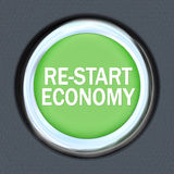 Re-Start Economy - Car Push Button Starter Royalty Free Stock Photography