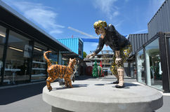Re:START. mall in Christchurch - New Zealand. CHRISTCHURCH - DEC 04 2015:Re:START. It's a popular temporary mall built from shipping containers created in Royalty Free Stock Photo
