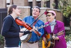 Re Street Bluegrass Performers Reston la Virginia fotografie stock libere da diritti