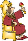 Re sul suo trono Fotografie Stock Libere da Diritti