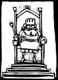 Re sul trono Immagine Stock