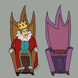 Re sull'illustrazione del trono Immagini Stock