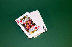 Re in una piattaforma delle carte Immagini Stock Libere da Diritti