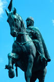 Re Wenceslas Statue a Praga Immagine Stock