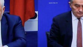 Reação de Irã na eleição do presidente do trunfo filme