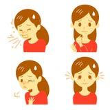 Reações alérgicas ilustração stock