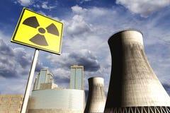 rea ядерной державы 3d реалистическое представляет станцию Стоковые Фото