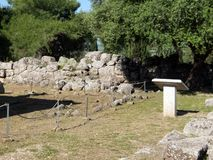 ?rea arqueol?gica de Necromanteion del Acheron en Grecia fotografía de archivo libre de regalías
