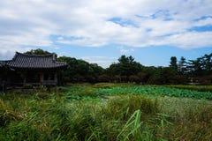 ?rea c?nico da lagoa de Coreia do Sul gyeongju fotos de stock
