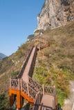 Área cênico do pico da deusa do desfiladeiro de Three Gorges Wu Foto de Stock