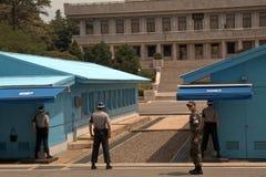 Área comum da segurança, Panmunjon, república coreana Imagem de Stock