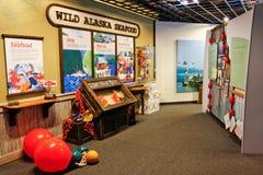 Área da educação das crianças do centro da vida marinha de Alaska Imagem de Stock Royalty Free