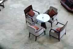 Área da sala de estar do hotel de luxo Imagens de Stock