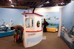 A área das crianças do centro da vida marinha de Alaska Fotografia de Stock Royalty Free