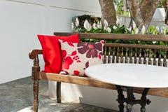 Área de assento exterior do pátio Imagens de Stock Royalty Free
