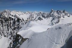 Área de esquí extrema Vallee Blanchet Foto de archivo
