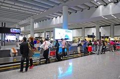 Área de la demanda del equipaje en el aeropuerto Foto de archivo libre de regalías